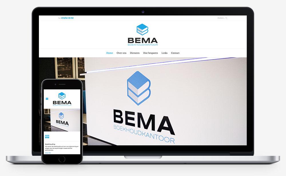 Boekhoudkantoor BEMA website
