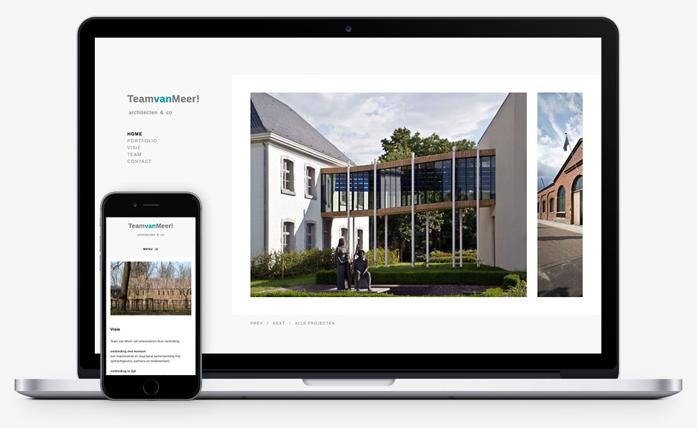 Team van Meer website