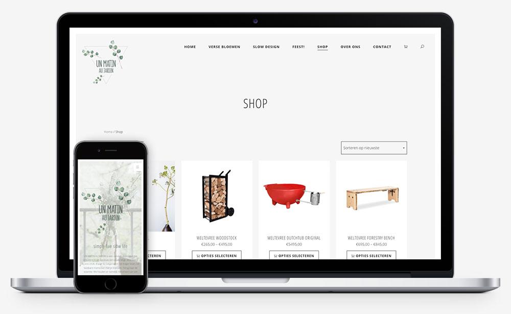 Un Matin Au Jardin website